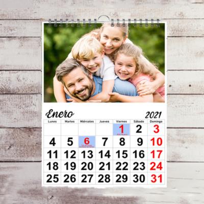 Calendarios 1 hoja por mes