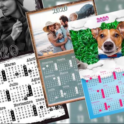 Calendario una hoja todos los meses